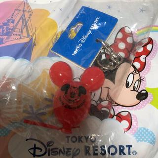 Disney - ミッキー バルーン キーチェーン  レッド 赤 ディズニー キーホルダー