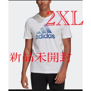 アディダス(adidas)のadidas アディダス メンズ Tシャツ ホワイト 白 2XL 新品(Tシャツ/カットソー(半袖/袖なし))
