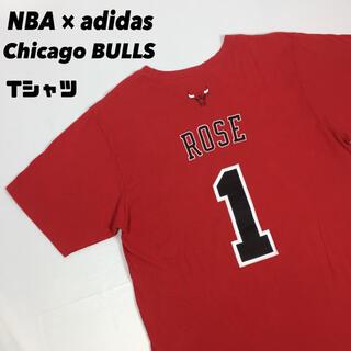 アディダス(adidas)の古着 NBA adidas アディダス BULLS ブルズ tシャツ ローズ L(Tシャツ/カットソー(半袖/袖なし))