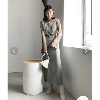 Ameri VINTAGE - Ameri Vintage Lace Flower Dress セージ M