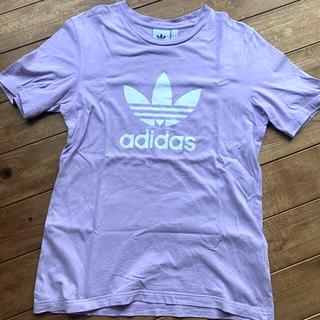 アディダス(adidas)のadidas originals ロゴTシャツ 薄紫(Tシャツ(半袖/袖なし))