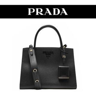 PRADA - プラダ SAFFIANO CUIR モノクローム 2WAY ハンドバッグ