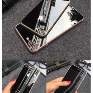 iPhone7鏡面ガラスシート ブラック(iPhoneケース)