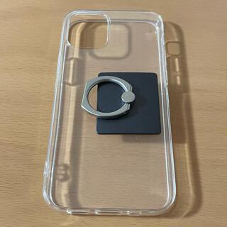 iPhone12 mini クリアケース バンカーリング(iPhoneケース)