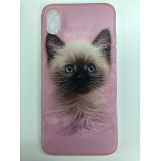 iphone X 猫 ケース ソフト ネコ ねこ cat カバー スマホ(iPhoneケース)