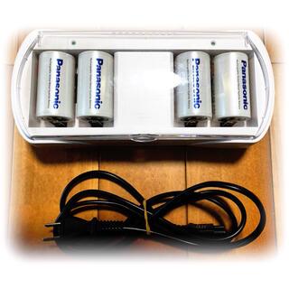 Panasonic - ☆最終値下げ☆パナ充電器BQーCC25/1台+充電池単1形BK-1MGC/4本付