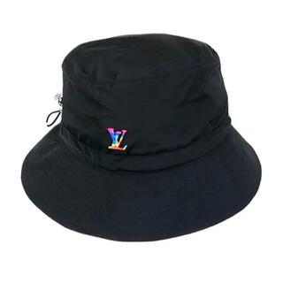 ルイヴィトン(LOUIS VUITTON)の値下げしました🧳LOUIS VUITTON 🇫🇷ナイロンハット ブラック(ハット)