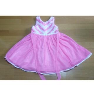コストコ(コストコ)のキッズ ドレス ピンク 130 花 レース 結婚式 パーティー お姫様ごっこ(ドレス/フォーマル)