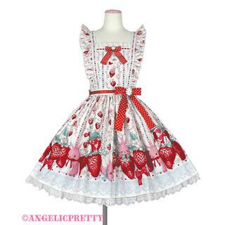 Angelic Pretty - angelic pretty Strawberry エプロン風スカート シロ