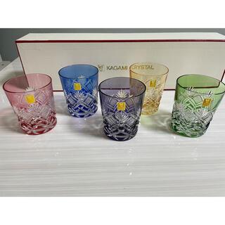 Baccarat - カガミクリスタル ロックグラス 江戸切子 5点セット