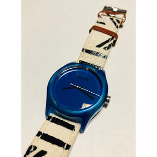 ニクソン(NIXON)の【電池新品】NIXONのTHE MOD ブルー×デザインベルト☆(腕時計)