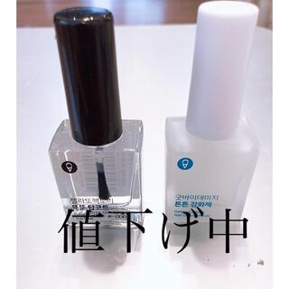 ジェラートファクトリー 2本セット トップコート ツヤ出しキュアネイル美容液(ネイルトップコート/ベースコート)