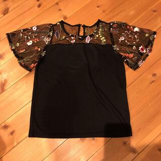 シマムラ(しまむら)のしまむら☆花刺繍半袖トップス(Tシャツ(半袖/袖なし))