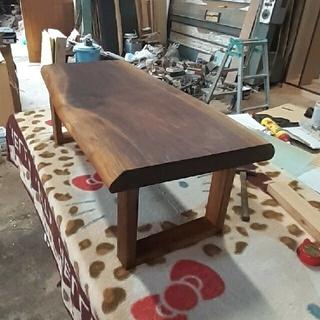 ウォールナット 一枚板 ローテーブル オイル仕上げ