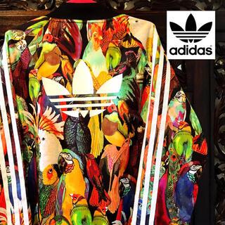 アディダス(adidas)のアディダス ファーム 花柄 オウム 南国 ジャージ ジャケット ブルゾン SML(ブルゾン)
