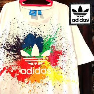 アディダス(adidas)のアディダス オリジナルス ビッグロゴ スプラッシュ ペイント Tシャツ ジャージ(Tシャツ/カットソー(半袖/袖なし))