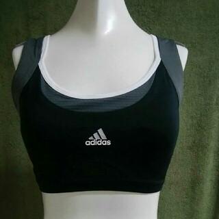 アディダス(adidas)のadidasアディダス スポーツブラ ブラトップ フィットネス・ラン 黒 S-M(トレーニング用品)