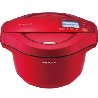 シャープ(SHARP)のSHARP ヘルシオ ホットクック 2.4L 電気無水鍋レッド系(調理機器)