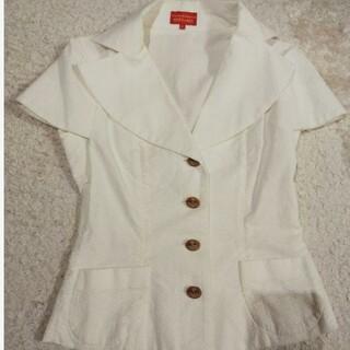ヴィヴィアンウエストウッド(Vivienne Westwood)のヴィヴィアンウエストウッド 半袖ジャケット 白(テーラードジャケット)