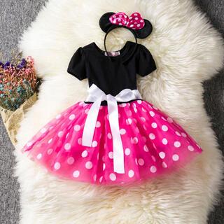 ミニー ワンピース キッズドレス 子供 ディズニープリンセス 衣装 なりきり(ドレス/フォーマル)