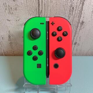 ニンテンドースイッチ(Nintendo Switch)の美品 人気カラー レッド グリーンSwitch 左右セット ジョイコン(その他)