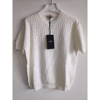 FENDI - 人気!FENDIフェンデイ セーター 半袖  ホワイト レディース