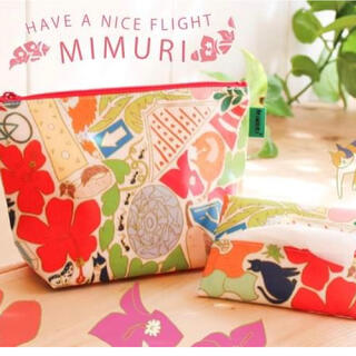 【新品未使用】MIMURI*ポーチ&ティッシュケースセット(ポーチ)