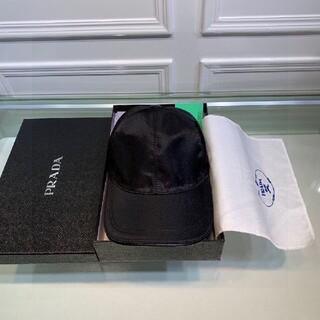 PRADA プラダ ロゴ キャップ ブラック 黒 帽子