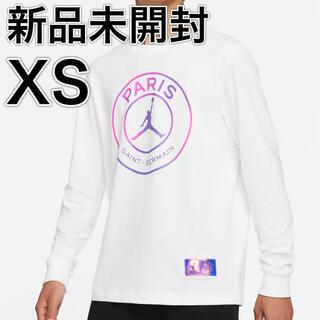 ナイキ(NIKE)の正規品 パリサンジェルマン × ジョーダン ロングスリーブ 長袖 Tシャツ XS(Tシャツ/カットソー(七分/長袖))