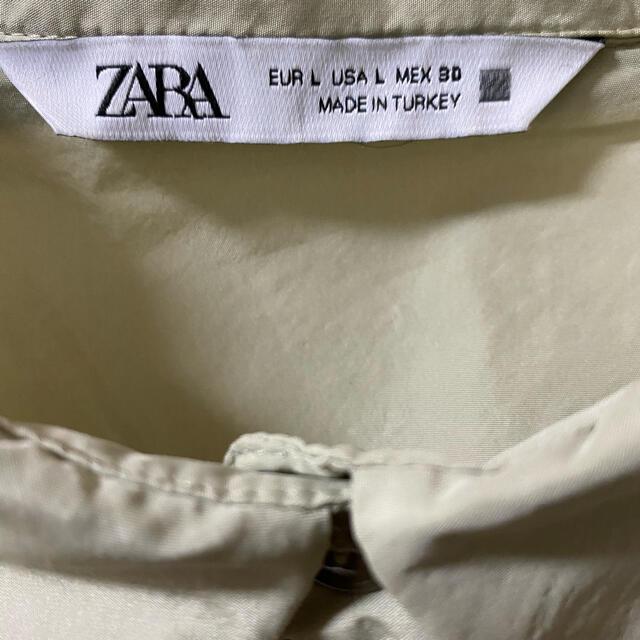 ZARA(ザラ)のZARA ザラ ティアードワンピース カーキ Lサイズ レディースのワンピース(ロングワンピース/マキシワンピース)の商品写真