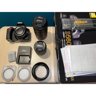 Nikon - D5600 Nikon 一眼レフ ダブルズームレンズキット 美品