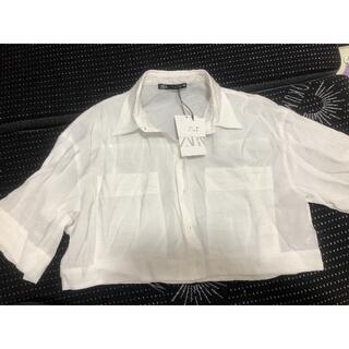 ザラ(ZARA)の新品❤️ザラ ショートシャツ(シャツ/ブラウス(半袖/袖なし))