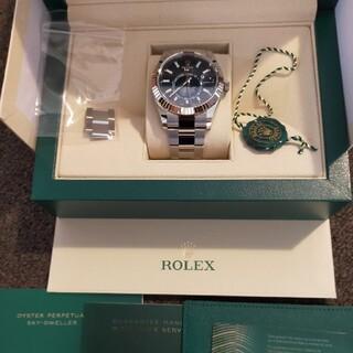 ROLEX - ロレックス スカイドゥエラー 青 未使用品 20年購入 コマ調整のみ