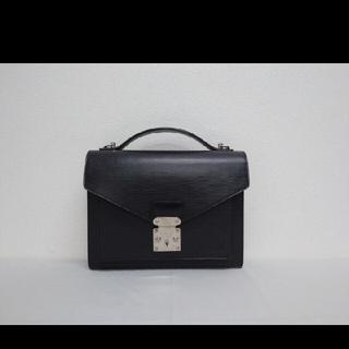 ルイヴィトン(LOUIS VUITTON)のルイヴィトン エピ モンソー 2way ハンドバッグ ブラック(ビジネスバッグ)