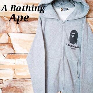 A BATHING APE - 【激レア】エイプA bathing APE スエットパーカー デカロゴ 古着