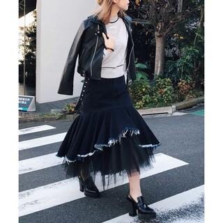 Ameri VINTAGE - ameri vintage イレギュラーヘムレイヤードデニムスカート