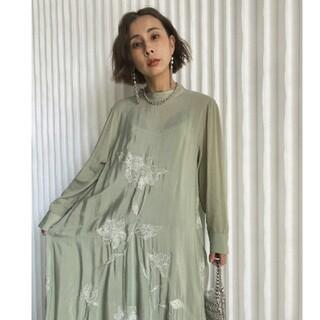 Ameri VINTAGE - AMERI  2WAY FLOWER GARDEN DRESS  セージ M