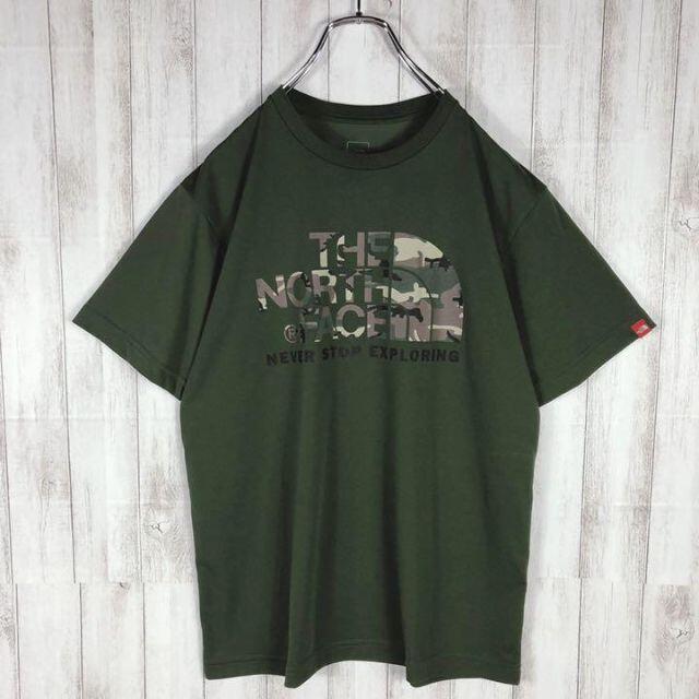 【即完売モデル】 NORTH FACE 迷彩柄 デカロゴ Tシャツ 希少 メンズのトップス(Tシャツ/カットソー(半袖/袖なし))の商品写真