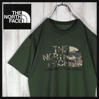 【即完売モデル】 NORTH FACE 迷彩柄 デカロゴ Tシャツ 希少
