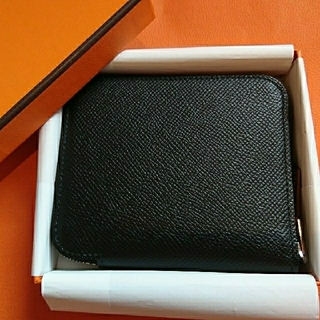 Hermes - エルメス シルクイン コンパクト 財布 ブラック