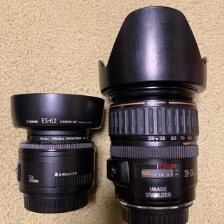 Canon - CANON EF28-135mm EF50mm f1.8 レンズ