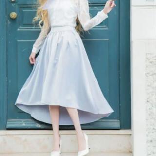 エミリアウィズ(EmiriaWiz)のEmiria Wiz エミリアウィズ サテンスカート グレー(ロングスカート)