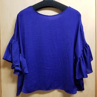 ローズバッド(ROSE BUD)のROSE BUD サテンブラウス(フリーサイズ)(シャツ/ブラウス(半袖/袖なし))