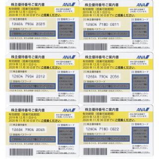 エーエヌエー(ゼンニッポンクウユ)(ANA(全日本空輸))の即対応 ANA 全日空 株主優待券 2021年5月31日搭乗迄(航空券)
