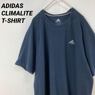 アディダス(adidas)のADIDASアディダス CLIMALITE ロゴ刺繍 Tシャツ ネイビーM(Tシャツ/カットソー(半袖/袖なし))