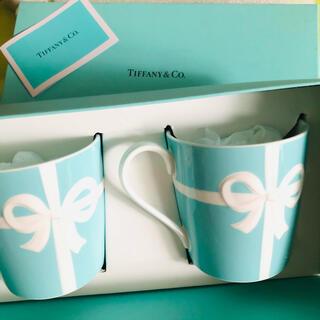 Tiffany & Co. - ティファニー リボン マグカップ ペアセット