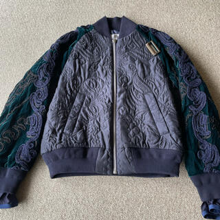 sacai - sacai サカイ 16aw 刺繍ブルゾン ジャケット