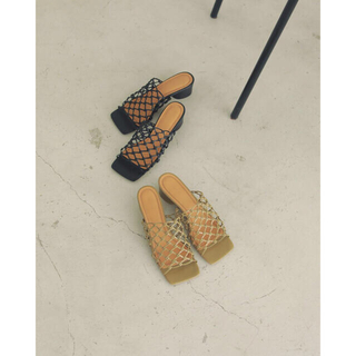 TODAYFUL - 難あり🌼TODAYFUL Leather Mesh Sandals