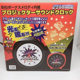 ジャグラー プロジェクターサウンドクロック juggler 目覚まし時計 黒×白(パチンコ/パチスロ)