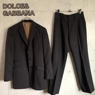ドルチェアンドガッバーナ(DOLCE&GABBANA)のDOLCE&GABBANA  ストライプ スーツセットアップ イタリア製(セットアップ)